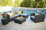 Набор садовой мебели Salta Lounge Set Graphite ( графит ) из искусственного ротанга ( Allibert by Keter ), фото 8