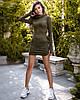 Платье женское мини из замша TM B&H АА/-0192 - Хаки