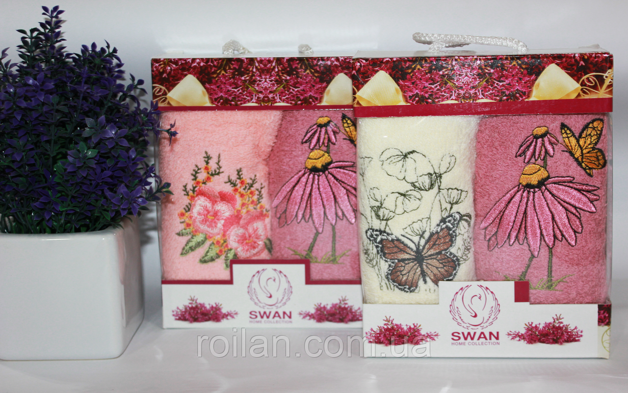 Набор кухонных полотенец 2 ка Swan Цветы