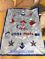 Одеяло для новорождённых из натурального меха