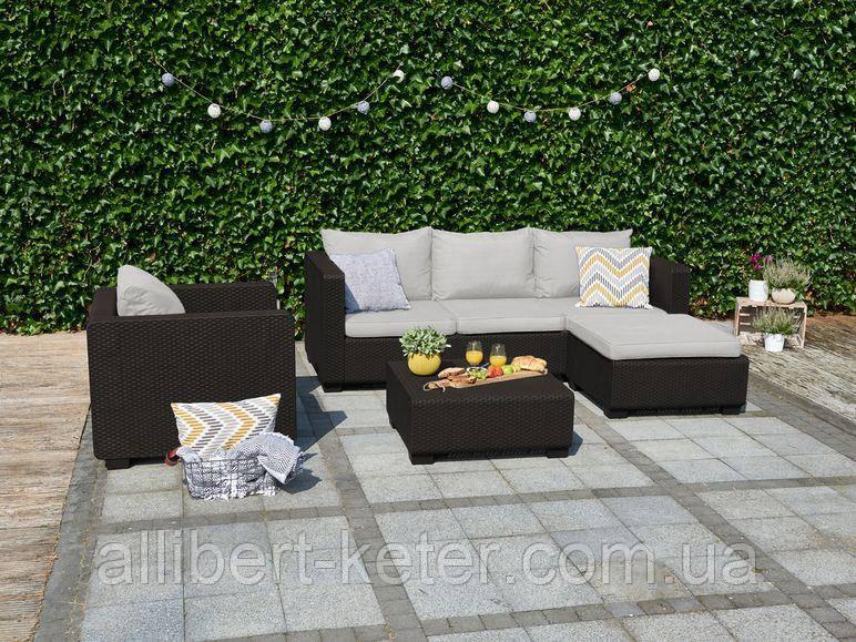 Набор садовой мебели Salta Lounge Set Brown ( коричневый ) из искусственного ротанга
