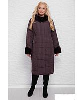 Пуховик пальто зимнее женское новинкам зима 2020 . Цвет лиловый