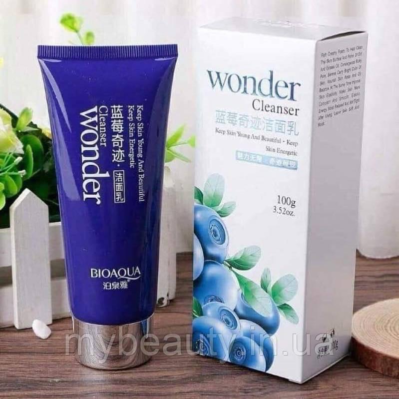 Пенка для умывания с экстрактом черники Bioaqua Wonder Cleanser (100г)