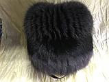 Жіноча кубанка Барбара з песця колір сірий з чорним, фото 6