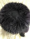 Жіноча кубанка Барбара з песця колір сірий з чорним, фото 4