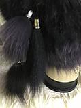 Жіноча кубанка Барбара з песця колір сірий з чорним, фото 5