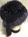 Жіноча кубанка Барбара з песця колір сірий з чорним, фото 3
