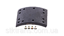 Накладки FRUEHAUF,ROR,TRAILOR 421x177,3mm (1рем) LUMAG