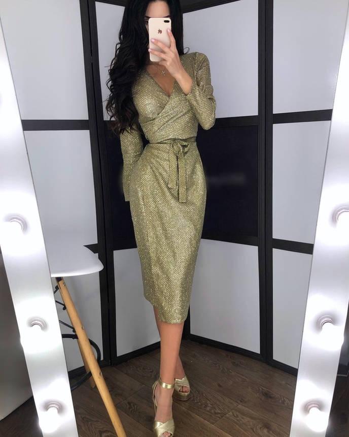 Нарядное платье с блестящим напылением, фото 2