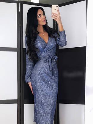 Нарядное платье с блестящим напылением, фото 3
