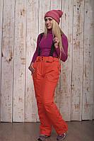 Горнолыжные брюки женские распродажаAV-8072 оранжевый 2XL