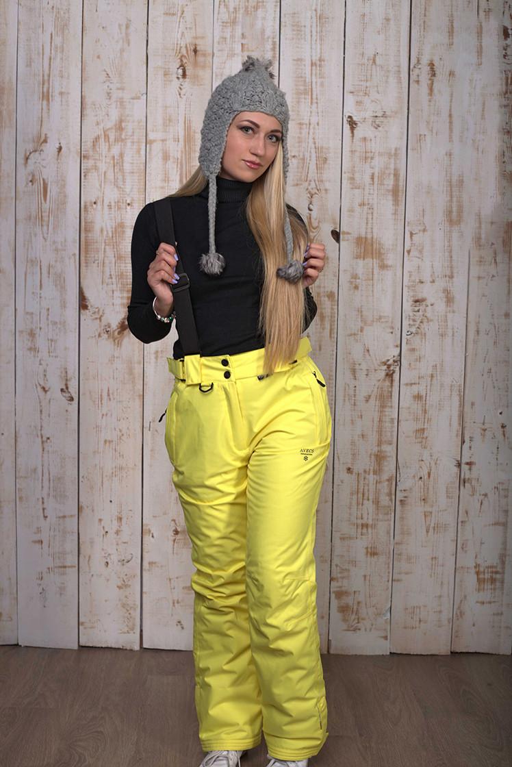Горнолыжные брюки женские Avecs 8072 желтый