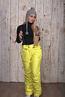 Горнолыжные брюки женские распродажаAV-8072 желтый 50 (XXL)