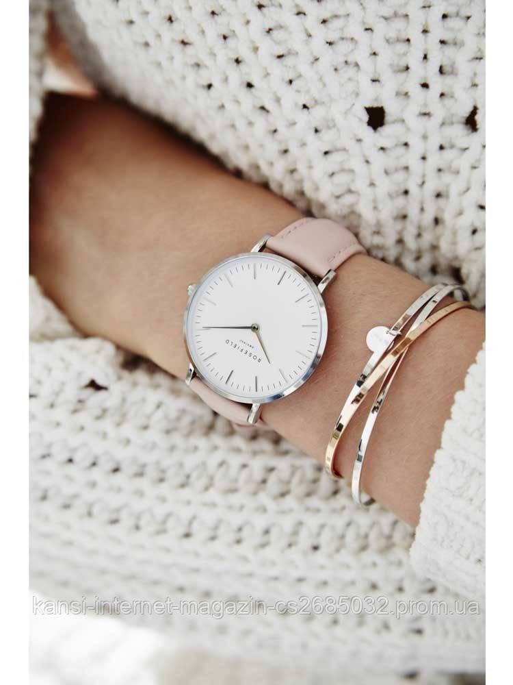 Женские часы Rosefield Gold, стильные наручные часы золотые