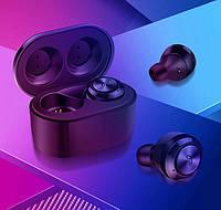 Беспроводные вакуумные Bluetooth наушники Air Twins A6 TWS с боксом для зарядки
