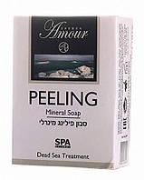 Мыло-пилинг для тела для очистки и увлажнения с минералами Мертвого моря Израиль Shemen Amour (125 г)