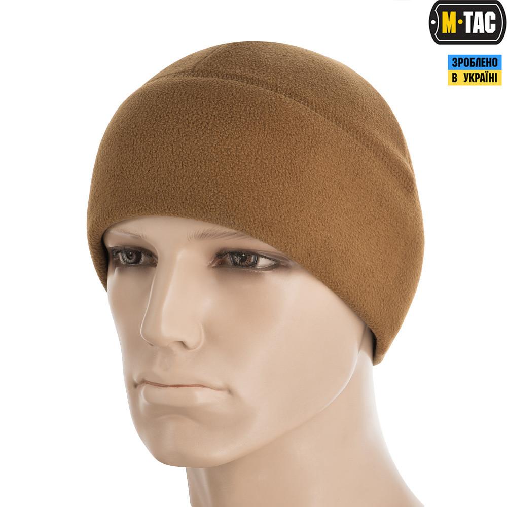 M-TAC ШАПКА WATCH CAP ELITE ФЛИС (340Г/М2) WITH SLIMTEX COYOTE BROWN