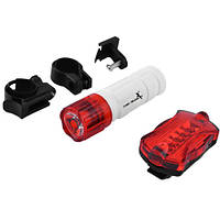Фонарь велосипедный DMFL-08-2-1LED, STOP-5LED, 3хААА, 2хААА, Waterproof