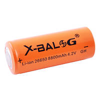 Аккумулятор 26650, X-Balog, 8800mAh