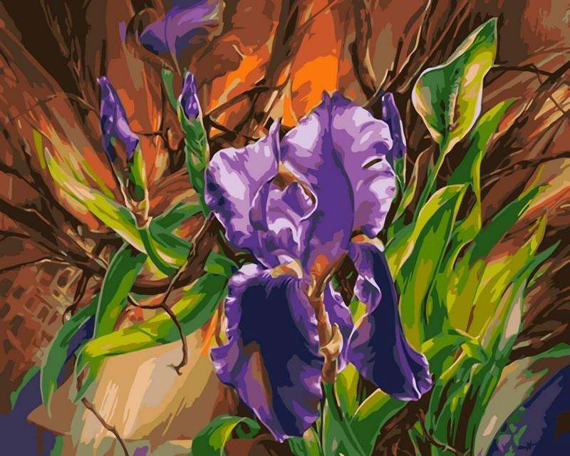 Картина за номерами 40×50 див. Babylon Блакитний ірис Художник Ві Харрі Данн (VP103)