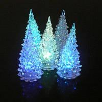 Светодиодная новогодняя и рождественская елка-лампа 27см