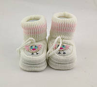 Дитячі шкарпетки 16.5 розмір 10 см довжина взуття на новонароджених Туреччина для новонародженої дівчинки, фото 1