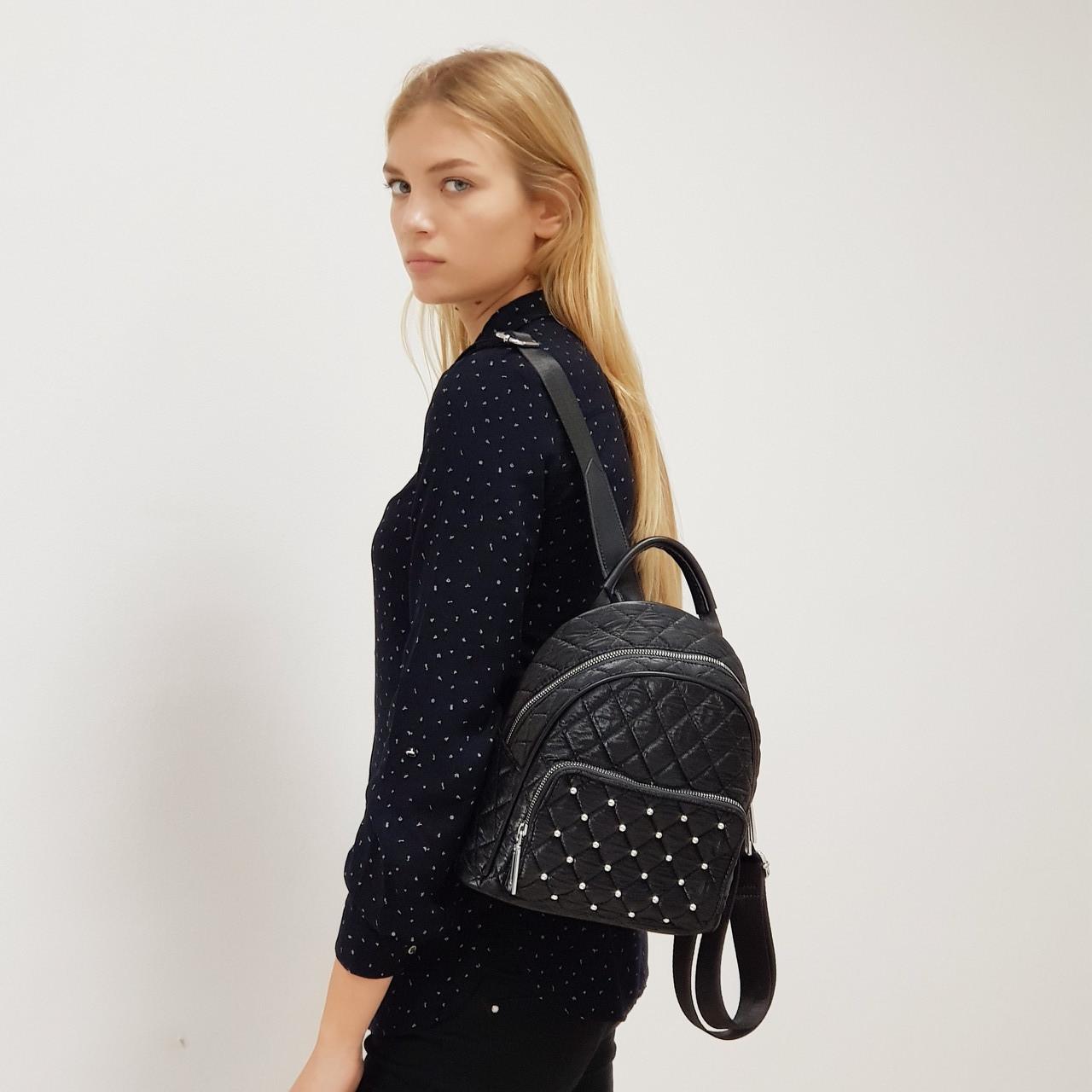 Рюкзак женский текстильный городской черный