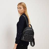 Рюкзак женский текстильный городской черный, фото 1