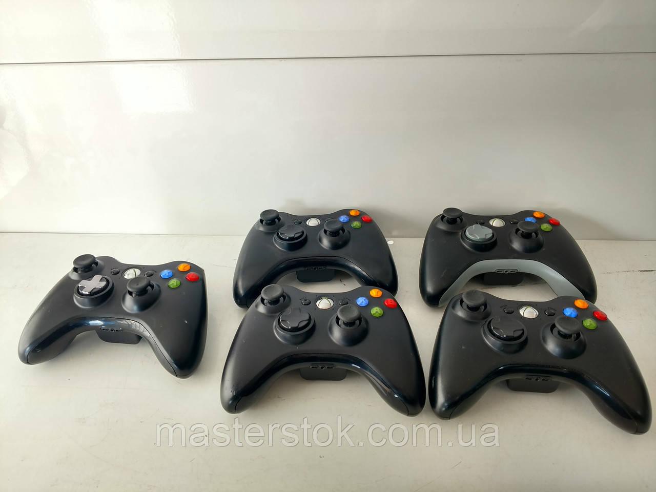 Беспроводные черные оригинальные джойстики для Xbox 360