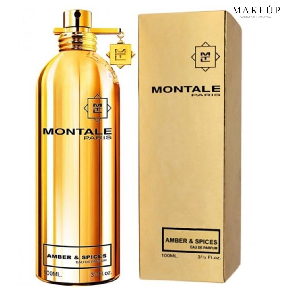 Женская парфюмированная вода Montale Amber & Spices edp 100 мл.   Лицензия Объединённые  Арабские Эмираты