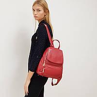Рюкзак жіночий з натуральної шкіри міської червоний, фото 1