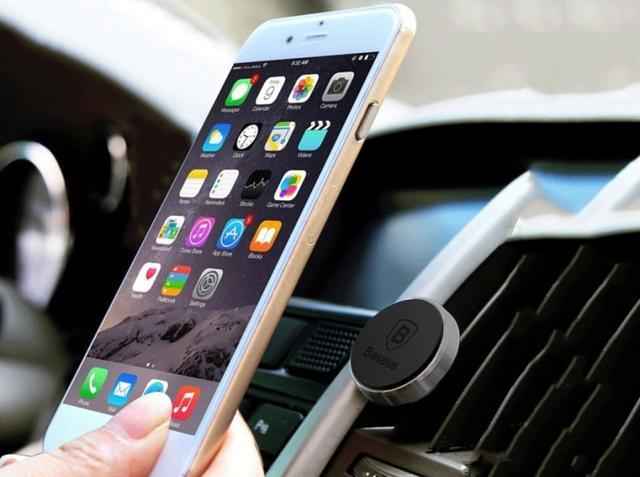 Магнитный автодержатель для мобильных устройств Baseus PREMIUM Magnet Car Mount SUGENT-MO01 Серебристый