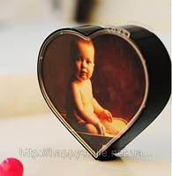 Вращающаяся фоторамка в виде сердца,  вращающееся сердце, Heart-Shaped Mini Magic Photo Frame