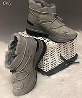 Ботинки еврозима 37 (24 см) серые