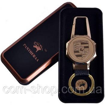 Зажигалка-брелок, электроимпульсная в виде ключа porsche Porsche (USB) №4687А