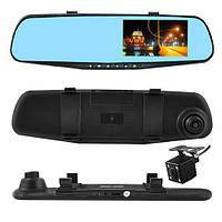 Автомобильный видеорегистратор-зеркало L-9002, 4,3'', 2 камеры, 1080P Full HD