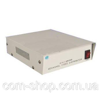 Сплиттер, усилитель видео сигнала 1/4 (дивидер)