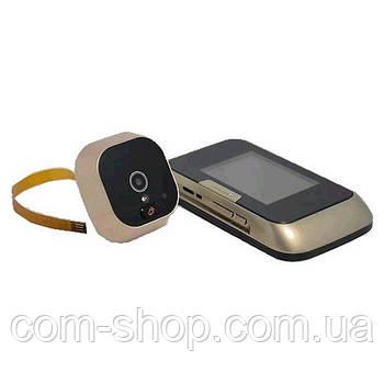 Видеоглазок для входной двери с монитором электронный с записью видеокамеры S14