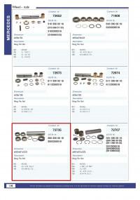 Шкворень (ремкоплект) MERCEDES MK/SK 3003300019, CONTECH