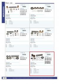 Шкворень (ремкоплект) MERCEDES NG/SK 3895860033, CONTECH