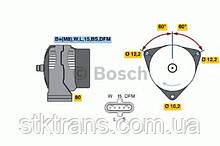 Генератор DAF 95/F1900/F2800 0890967, BOSCH Генератор