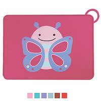 """Коврик детский Stenson """"Бабочка"""" силиконовый, размер 40х30см, разные цвета, коврик для деток, коврик маленький, коврик под тарелку"""