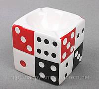 Подарок парню — пепельница Игральные Кости, пепельница кубик