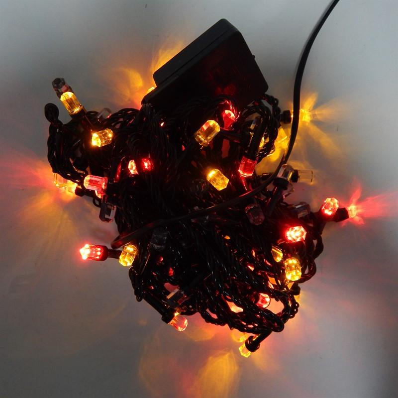 Гирлянда Нить Кристалл электрическая, 100 led, мульти, черный провод, 6,5м.