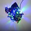 Гирлянда Нить Кристалл электрическая, 100 led, мульти, черный провод, 6,5м., фото 2