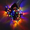 Гирлянда Нить Кристалл электрическая, 100 led, мульти, черный провод, 6,5м., фото 3