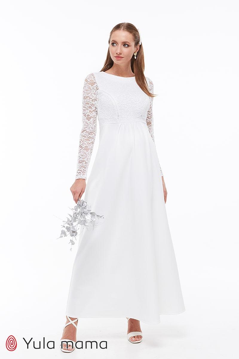 Свадебное платье для беременных и кормящих Юла Мама облегающее, с секретом для кормления. Elians DR-39.111 xS