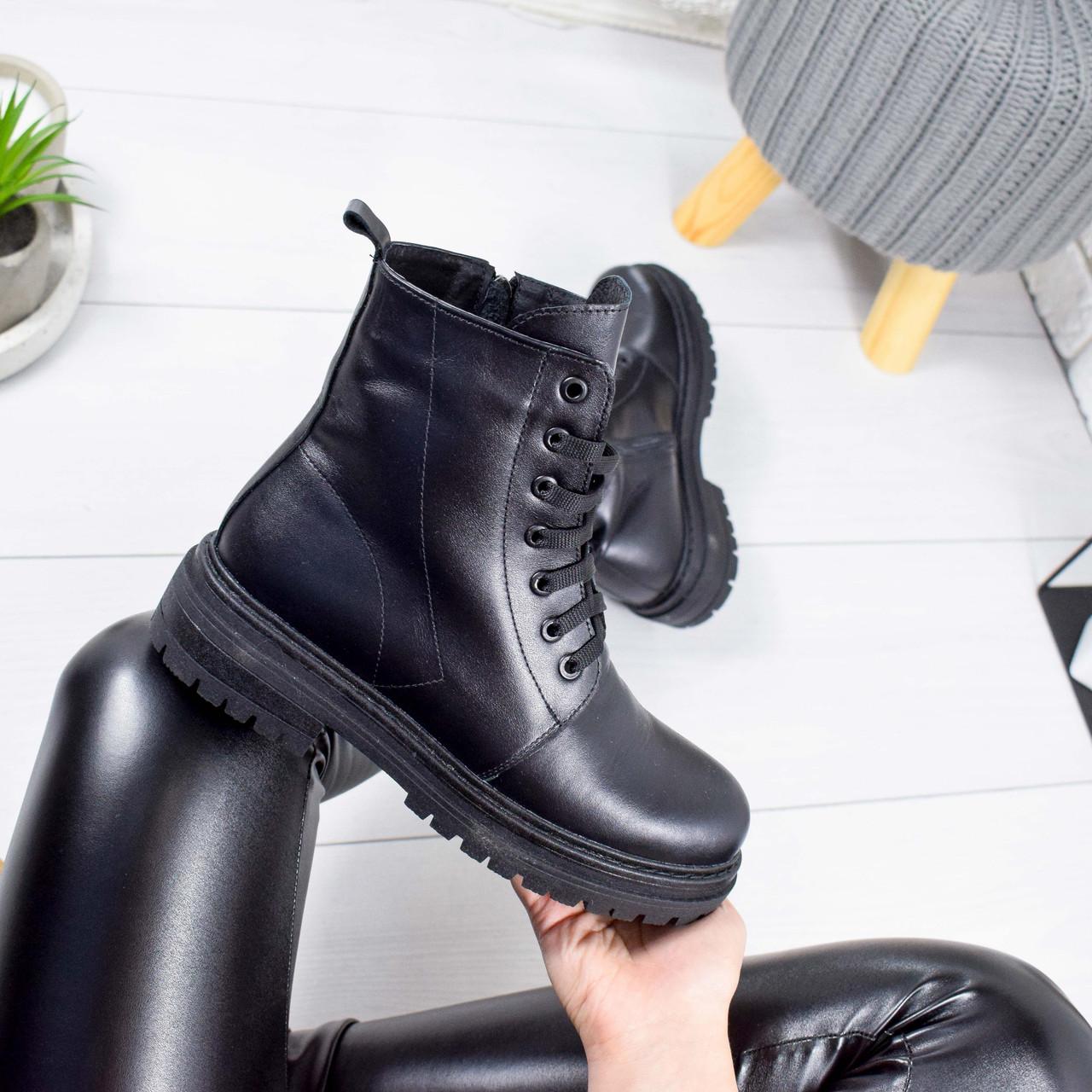 Ботинки женские Rikki черные 8826 ЗИМА