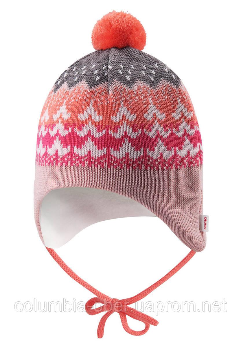 Зимняя шапка - бини для девочки Reima Tuittu 518545-3227. Размеры 36/38, 40/42 и  44/46.