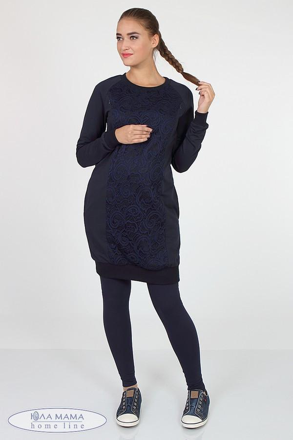 Лосины для беременных синие трикотажные с бандажным поясом Kaily new Юла Мама (S-XL)
